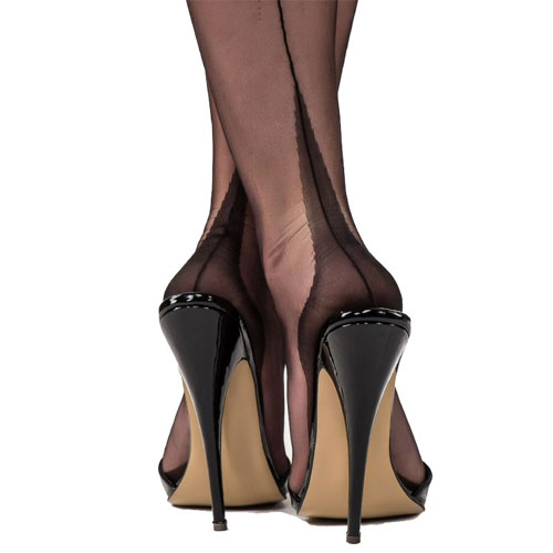 Gio Fully Fashioned Seamed stockings with point heel
