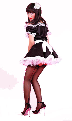French maid seamed stockings