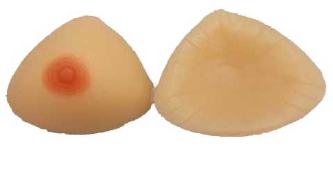 Meduim Triangle Silicone Breasts with nipple